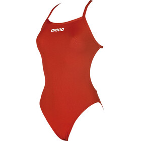 arena Solid Light Tech High One Piece Swimsuit Women red-white
